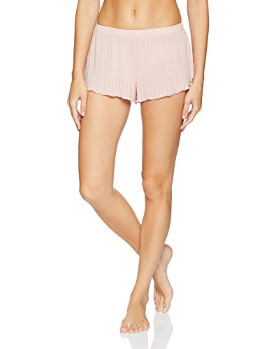 (Eberjey Women's Baxter Lettuce Edge Short, Cashmere Rose, Medium)