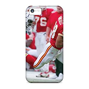 Iphone 5c Hard Back With Bumper Silicone Gel Tpu Case Cover Kansas City Chiefs