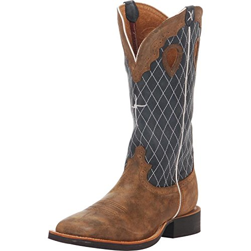Womens Ruff Stock - Twisted X Boots Mens Ruff Stock Bomber Cowboy Boots 10 D(M) US Bomber/Blue