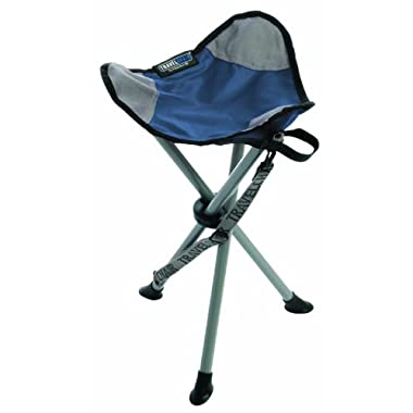 TravelChair Slacker Chair Folding Tripod Camp Stool, Blue