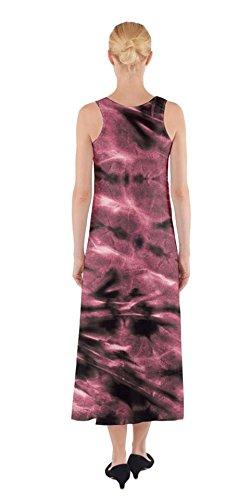 Red Boho Dye 2 XS Casual Sleeveless Dye Dress Maxi Tie Tie Womens 5XL Beach Summer Fake CowCow Print qSfw1f