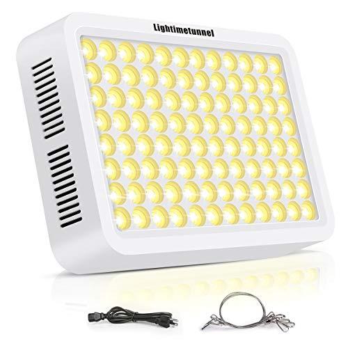 Grow Light Lightimetunnel 600W Full Spectrum LED Grow Light Sunlike 3500K Double-Chip Plant Light