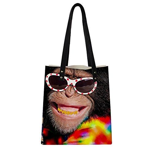 Advocator Stilvolle Print PU Leder Tasche mit Brieftasche für Frauen Casual Reise Handtasche Lehrer Totes Tasche Strand Totes für Mädchen Color-1