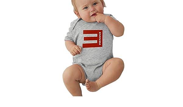 Aosepangpi Baby Jersey Bodysuit T-Shirt Eminem Cute White