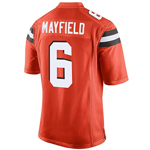 Womens Customized Replica Home Jersey - Men's/Women's/Youth_Cleveland_#6_Baker_Mayfield_Orange_Game_Jersey
