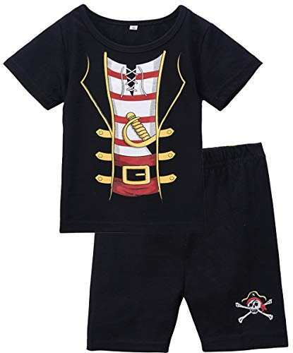 COSLAND Baby Boys Pirate Costume Halloween Clothing Shorts Sets (Pirate, 6-12 Months)]()