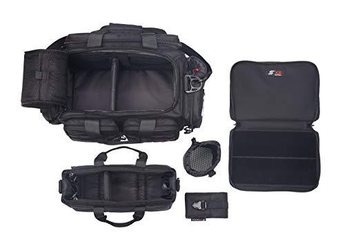 Blk Range - SXIII S13 RB1-BLK 1000D Ballistic Denier Tactical Pistol Range Bag (Black)