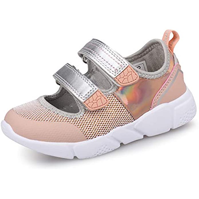 UOVO Girls Mary Jane Shoes Girls Flats Sneakers Kids Shoes Slip On Glitter Straps Ballerina Shoes for Girls