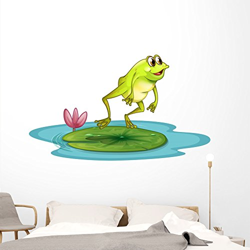 (Wallmonkeys WM19809 A Frog at The Pond Peel and Stick Wall Decals (72 in W x 43 in H), Colossal)