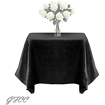 GFCC 90 X 90  Inch Black Polyester Tablecloth