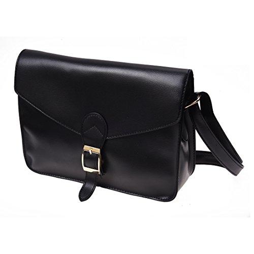 SODIAL(R)Retro Donna ragazza Borsa a tracolla brosa a spalla borsa a mano borsetta