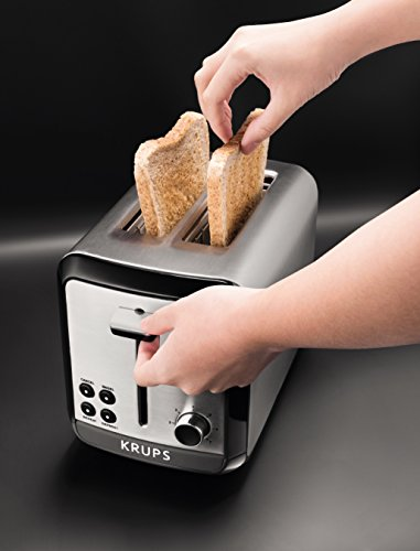 KRUPS KH3110 SAVOY Stainless with Bagel Slots, 2-Slice, Silver