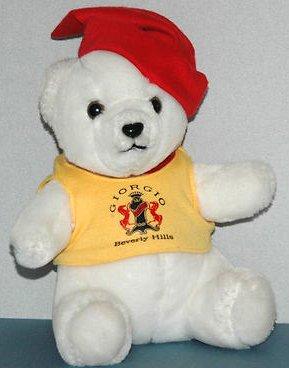Giorgio Beverly Hills White Teddy Bear Plush - Yellow Shirt Red - Yellow Giorgio