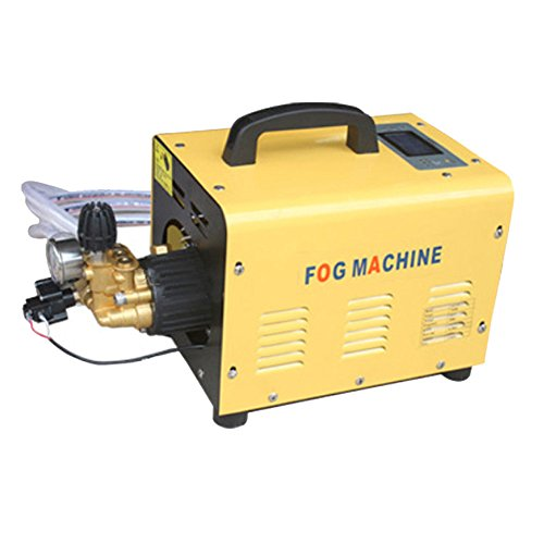 BAOSHISHAN High Pressure Fog Machine Outdoor Fog Misting System Irrigation Sprayers Tool for Cooling Farming Dedusting Flow:2L 370W 220V (2L machine+ High pressure spray nozzle)
