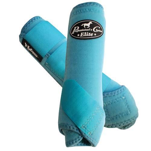 Professionals Choice Equine Sports Medicine Ventech Elite Front Leg Boot, Pair (Medium, Turquoise)