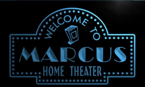 ph146-b Marcus Home Theater Popcorn Bar Beer Neon Light Sign