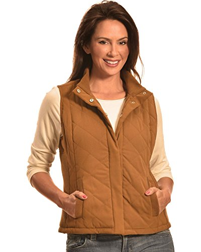 Quilted Faux Suede Vest - 1
