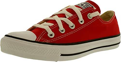 Converse Unisex Chuck Taylor All Star Low Top Red Sneakers - 10.5 B(M) US Women / 8.5 D(M) US Men