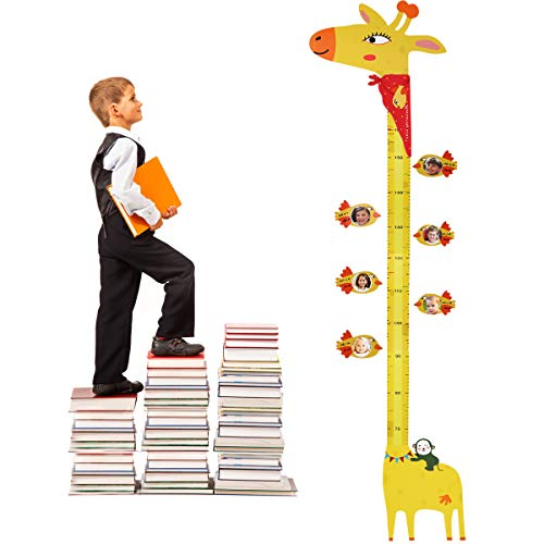 ASOFT 3D Magnetic Photo Frame Growth Chart, Magnetic Movable Measurement Height Chart for Kids, Giraffe Wall Decor, boy Girl (Cute) (Chart Autumn)