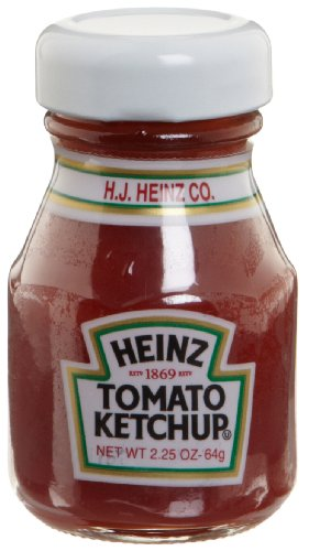 Heinz Tomato Ketchup, 2.25-Ounce Glass Jars (Pack of 60)