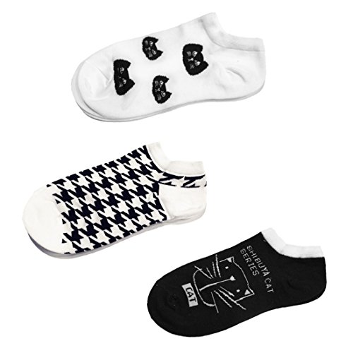 br-womens-girls-cat-lovers-cotton-low-cut-no-show-socks-3-pack-style-b