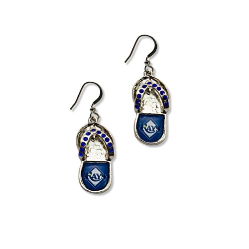 (MLB Tampa Bay Rays Crystal Flip Flop Earrings)