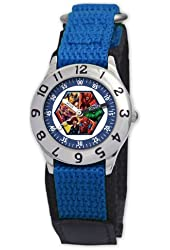 Marvel Kid's MA0103-D2748-BlueVelcro Marvel Heroes Classic Time Teacher Watch