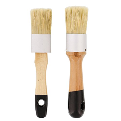 us-art-supply-2-piece-multi-use-round-chalk-wax-and-stencil-brushes-for-chairs-dressers-cabinets-and