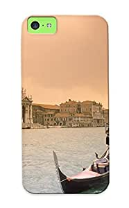 CnjJCmI1501dTitm Boat Awesome Sunset Over Grand Canal Flip Case With Fashion Water Design For Iphone 5c As New Year's Day's Gift