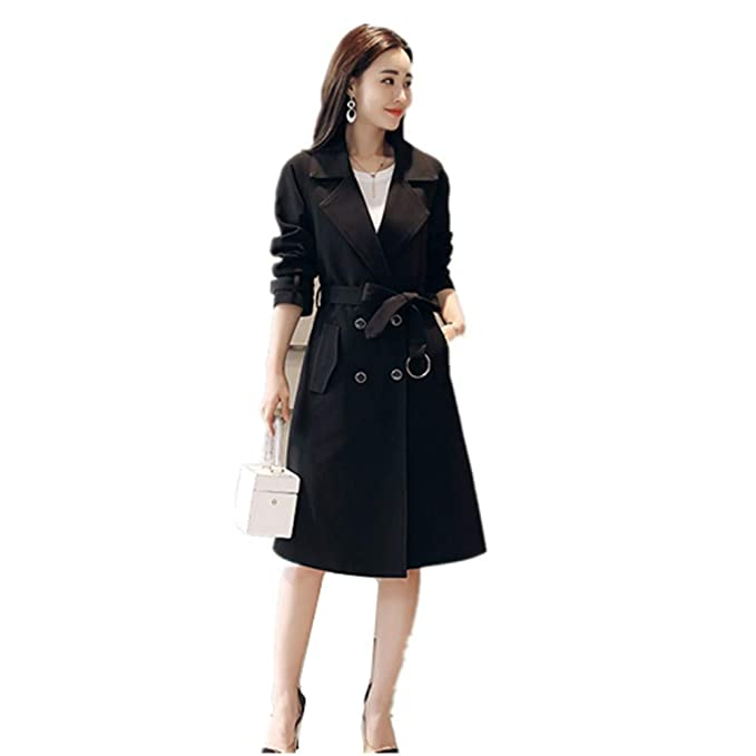 excellent quality search for clearance enjoy complimentary shipping BBWAY Women's Check Trench Coat: Amazon.co.uk: Clothing