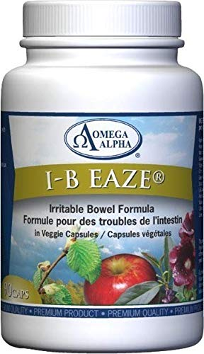 Omega Alpha I-B Eaze for Intestines & Stomach Ulcers 90 Capsules (Best Stomach Ulcer Medication)