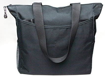 - Black Tote Bag 17 Inches Travel Shopping Business Handle Carrier by MakExpress