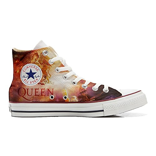Customized Schuhe Star All Converse Hi Handwerk music personalisierte Schuhe BtqRnx
