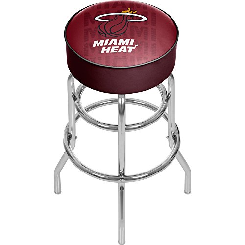 Trademark Gameroom NBA1000-MH3 NBA Padded Swivel bar Stool - City - Miami Heat