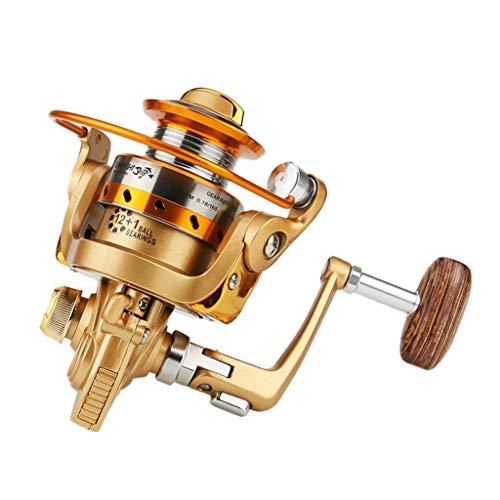 (Glumes Mini Spinning Fishing Reels Metal Smooth Fishing Reel 500-900 Series, Stainless Steel Shielded Bearings, 12+1BB, Lightweight Spinning Fishing Reel for Freshwater Saltwater Boat Fishing)