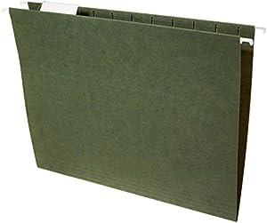 AmazonBasics Hanging File Folders - Letter Size, Green, 25-Pack