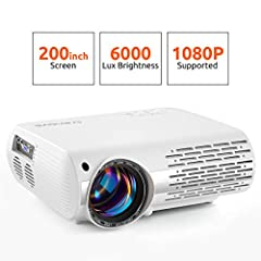 ENJOY HD HOME MOVIES WITH CRENOVA XPE660 PROJECTOR - Powerful omnidirectional speaker to pump out the sound in every direction. - Remarkable 550 ANSI, 5000 Lux brightness, 16.7K colors supported, bring amazing home movie experience. - Advance...
