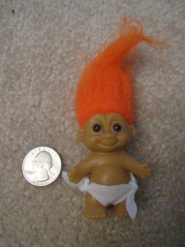 Russ Berrie..... baby Troll, with Orange Hair