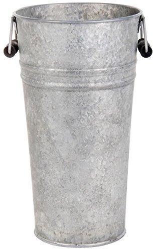 Esschert Design Old Zinc Flower Pot with Handles, - Zinc Flower Pot