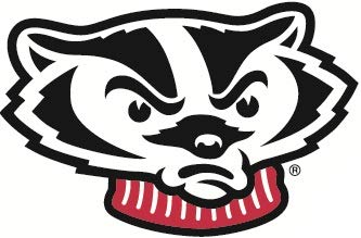 9 inch Bucky Badger Decal UW University of Wisconsin Badgers Logo WI Removable Wall Sticker Art NCAA Home Room Decor 9 by 5 1//2 inches