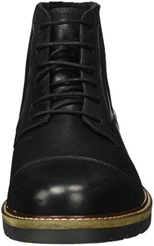 Bianco Panel Laced Up Son16, Zapatos de Cordones Derby para Hombre Negro - Schwarz (Black/10)