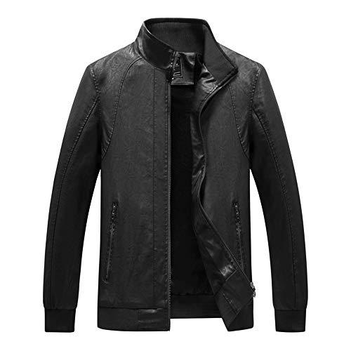(2019 Men New Coat,Men Winter Warm Jacket Overcoat Outwear Slim Long Trench Zipper Coat (3XL,Black))