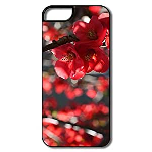 Case For HTC One M8 Cover, Branches Red Flowers White/black Covers Case For HTC One M8 Cover
