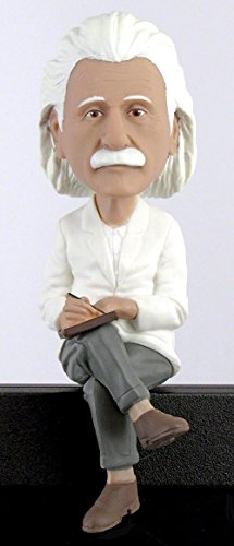 Royal Bobbles Bobblehead And Computer Sitter Of Albert Einstein  Collectible Bobblehead Figurine  Science Gifts