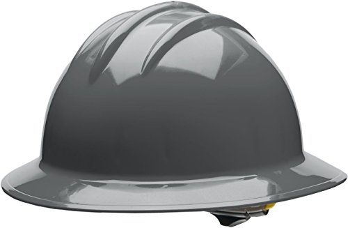 (Bullard 33DGR Classic Full Brim Style Hard Hat, 6 Point Ratchet Suspension, Dove Grey, One Size)