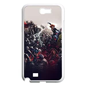 Fashion Style for Samsung Galaxy Note 2 Cell Phone Case White avengers marvel hero ultron super fight art HOR9378873