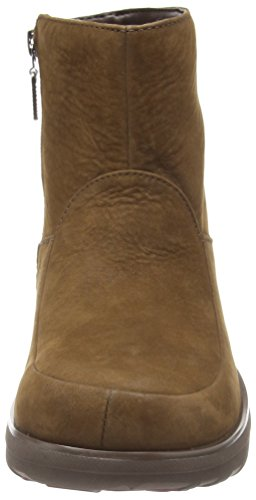 FitflopLoaff Shorty Zip - Botas mujer marrón - Brown (Chocolate Brown)