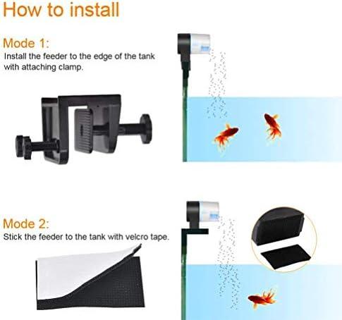 Auto alimentador de peces en acuario temporización inteligente 4