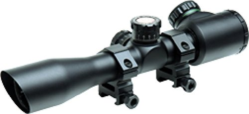 TRUGLO Crossbow Scope 4x32 IR with Rings Black