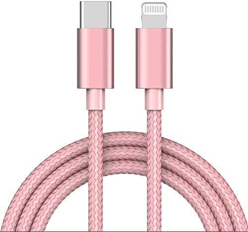 Apple MFi Certified USB C to Lightning Cable 4 FT Charger/Sync for iPhone X/XS/XR/XS Max / 8/8 Plus, (for Use with Type C Chargers) 4FT (Rose)